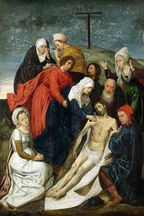 Гус, Хуго ван дер - Оплакивание Христа , 30х40 см.