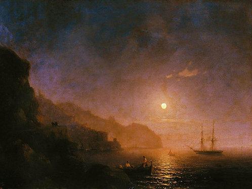 Ночь в Амальфи. 1854, 30х40 см.