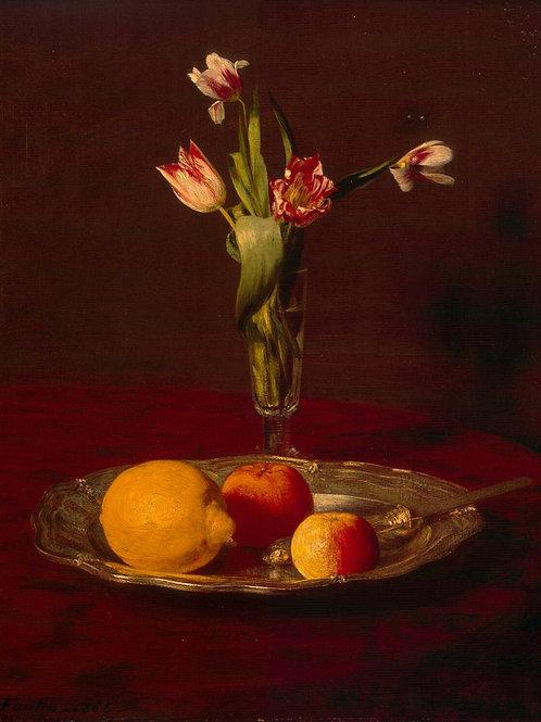Фантен-Латур, Анри - Лимон, яблоки и тю, 30х40 см.
