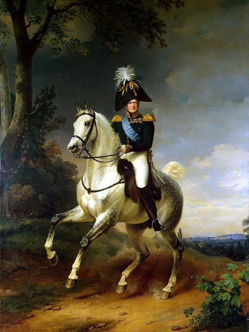 Крюгер, Франц - Портрет Александра I ве, 30х40 см.