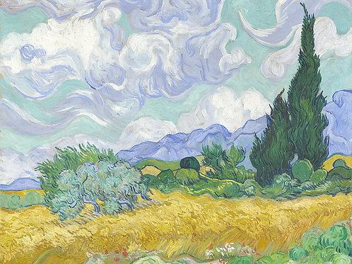 Винсент ван Гог - Пшеничное поле с кипа, 30х40 см.