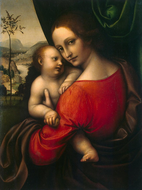 Джампетрино - Мадонна с младенцем, 30х40 см.