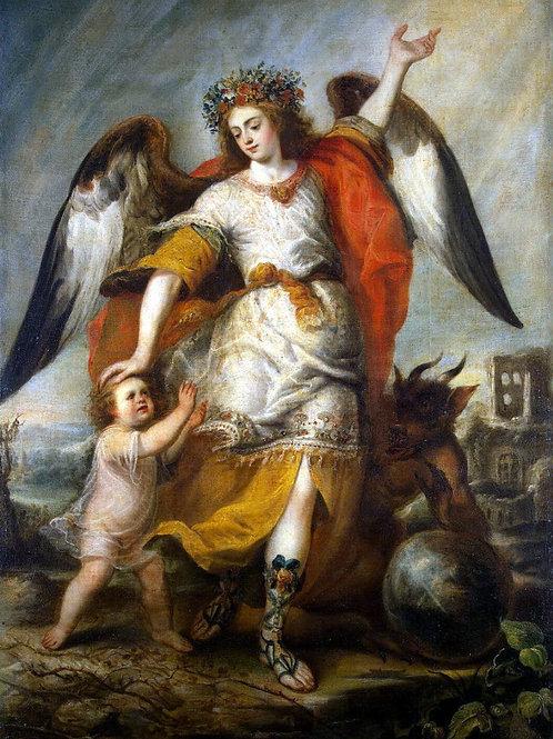 Переда, Антонио де - Ангел-хранитель,30х40 см.