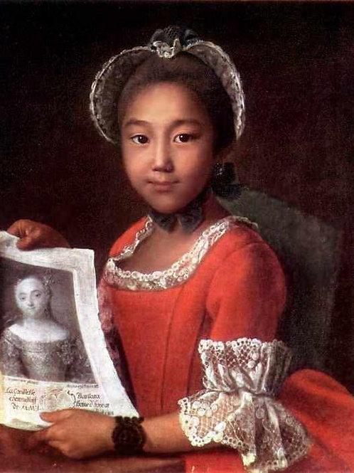 Портрет калмычки Аннушки 1767 г., 30х40 см.