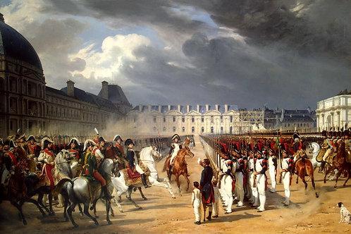 Верне, подающий прошение Наполеону на  , 30х40 см.