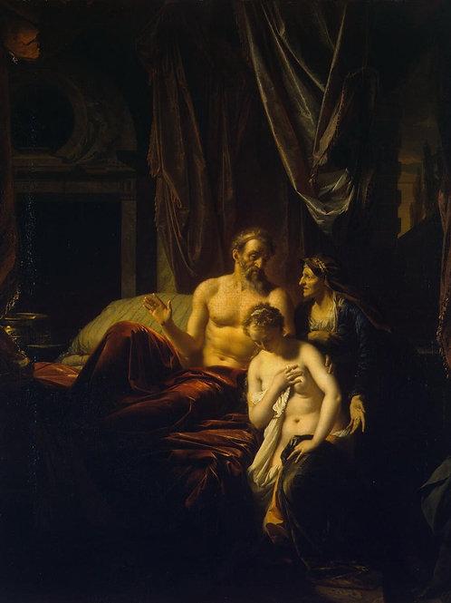 Верф, Сарра вводит Агарь к Аврааму, 30х40 см.