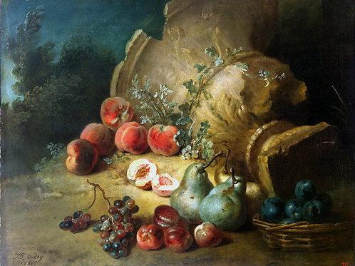 Удри, Жан-Батист - Натюрморт с фруктами, 30х40 см.