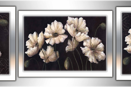 Белые цветы, 100% натур. холст, подрамник.