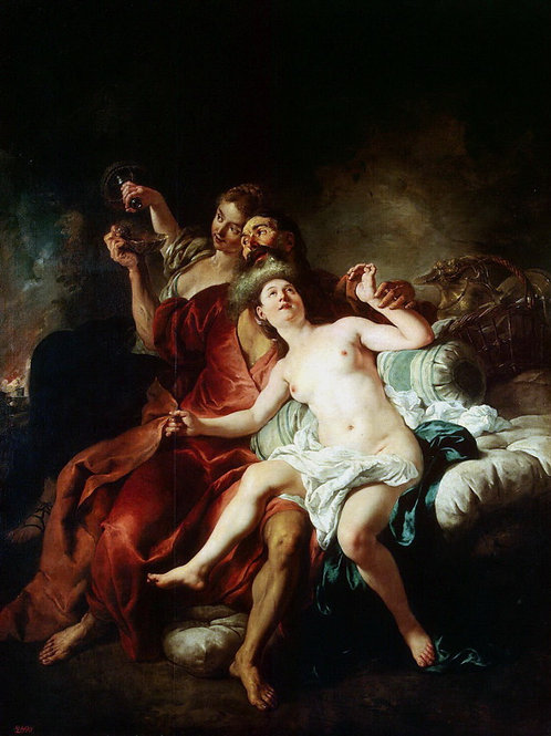 Труа, Жан-Франсуа де - Лот с дочерьми, 30х40 см.