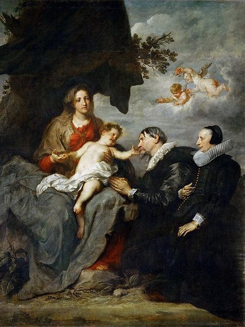 Дейк, Антонис ван (1599 Антверпен - 164 ,30х40 см.