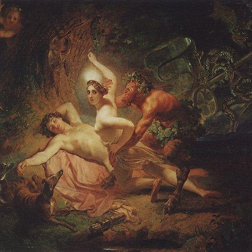 Диана, Эндимион и Сатир. 1849, 30х40 см.