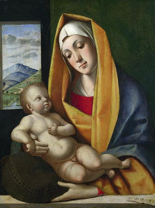 Альвизе Виварини - Мадонна с Младенцем, 30х40 см.