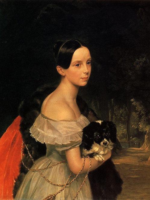 Портрет У.М.Смирновой. 1837-1840  30х40 см.