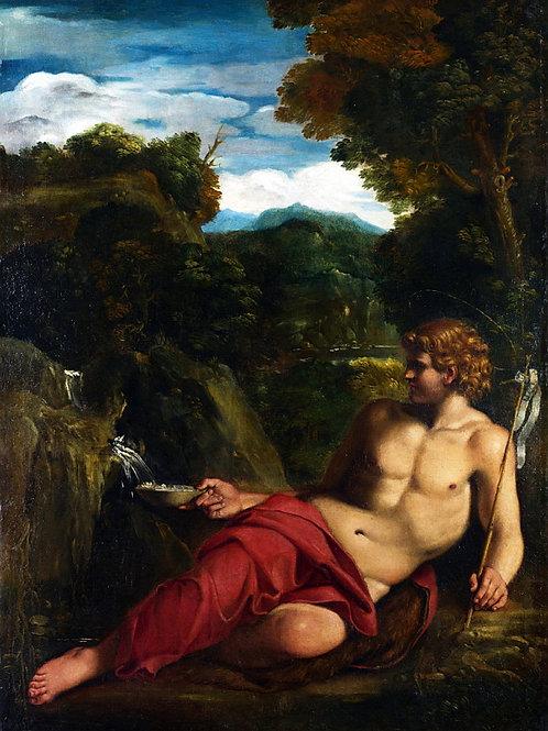 Аннибале Карраччи (круг) - Иоанн Крест, 30х40 см.