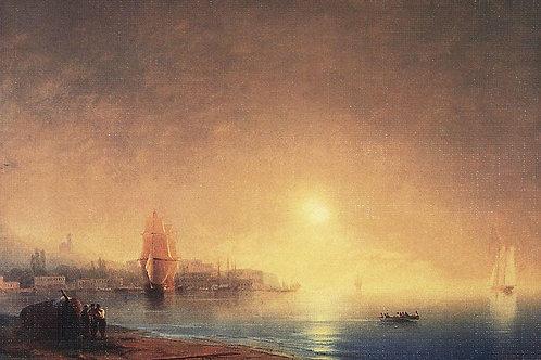 Утро на берегу залива. 1853, 30х40 см.