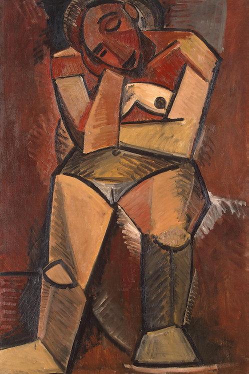 Пикассо, Пабло - Сидящая женщина, 30х40 см.