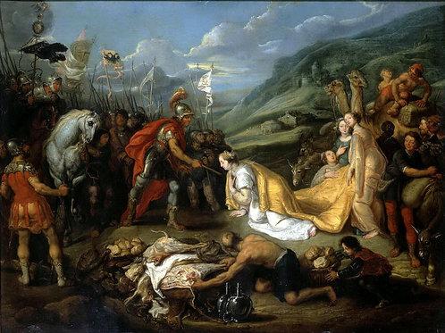 Вос,  Авигея приносит Давиду дары, 30х40 см.