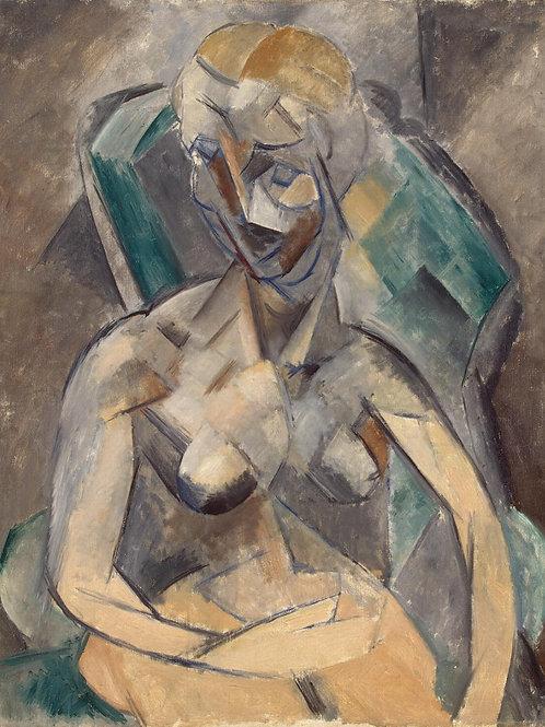 Пикассо, Пабло - Молодая дама, 30х40 см.