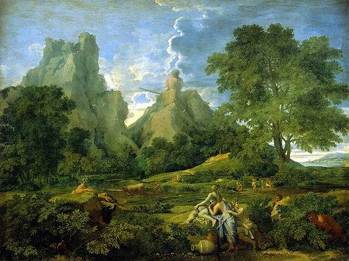 Пуссен, Никола - Пейзаж с Полифемом, 30х40 см.