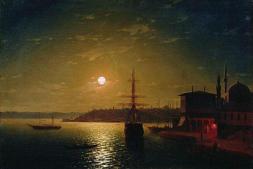 Бухта Золотой Рог. Турция. После 1845, 30х40 см.