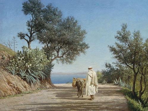 Дорога к морю. Алжир. 1883, 30х40 см.