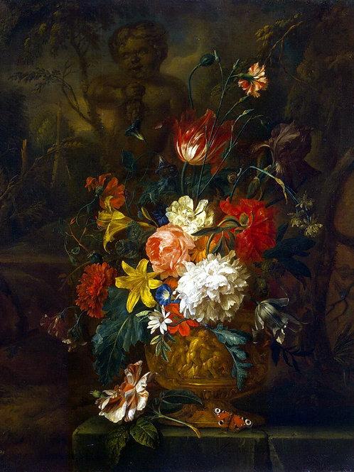 Хейсум, Юстус ван - Цветы,  30х40 см.
