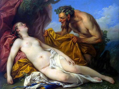 Ванлоо, Юпитер и Антиопа, 30х40 см.