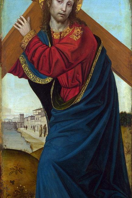 Амброджо Бергоньоне - Несение креста, 30х40 см.