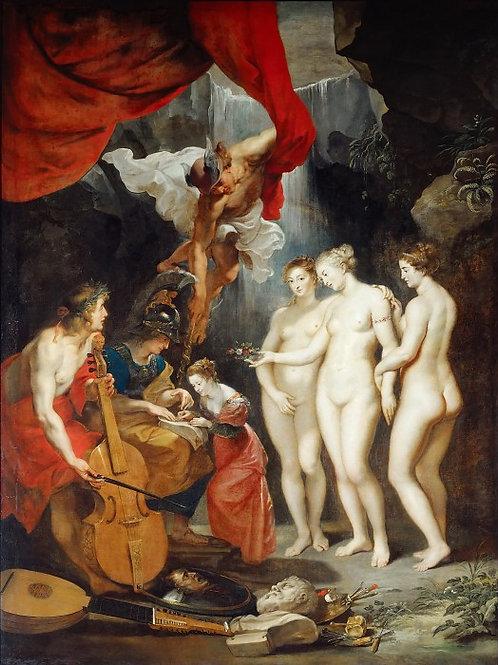 Рубенс, галерея Медичи, 1622-24 -- Воспи 30х40 см.