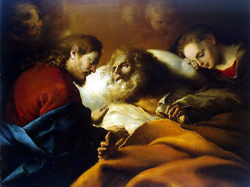 Кано, Алонсо - Смерть св. Иосифа, 30х40 см.
