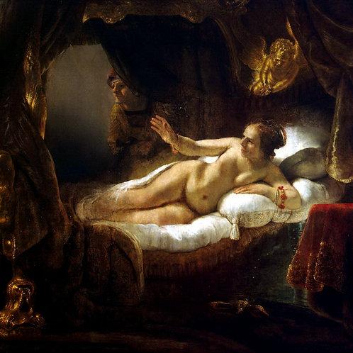 Рембрандт Харменс ван Рейн - Данаяо, 30х40 см.