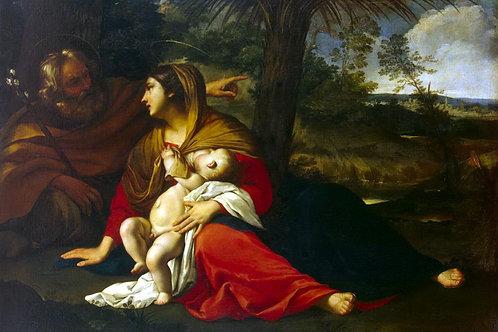 Отдых Святого семейства на пути в Египе, 30х40 см.