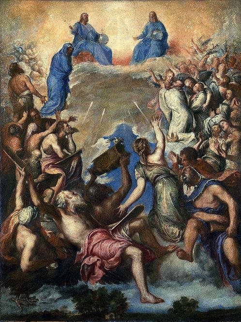 Тициан (последователь) - Святая Троица, 30х40 см.