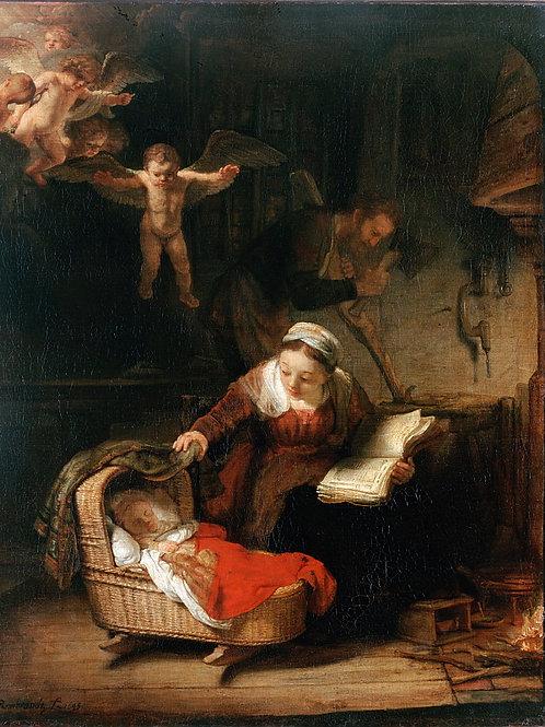 Рембрандт, Харменс ван Рейн - Святое се, 30х40 см.