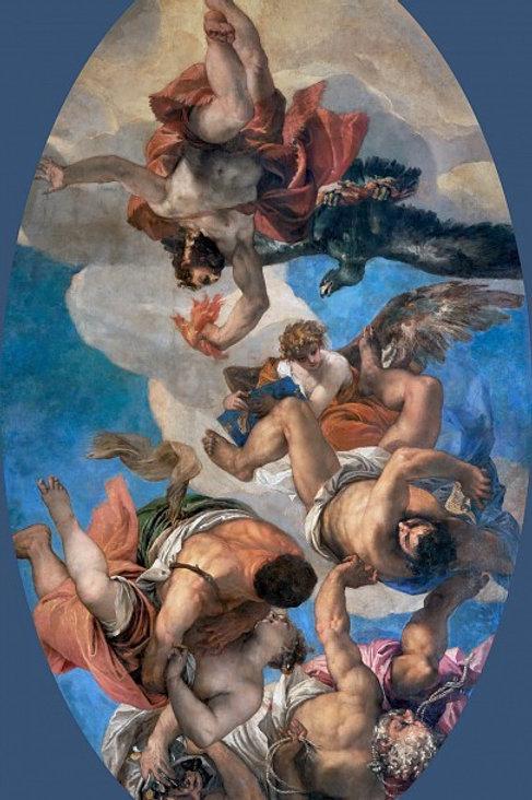 Веронезе  Низвержение Юпитером пороков  30х40 см.