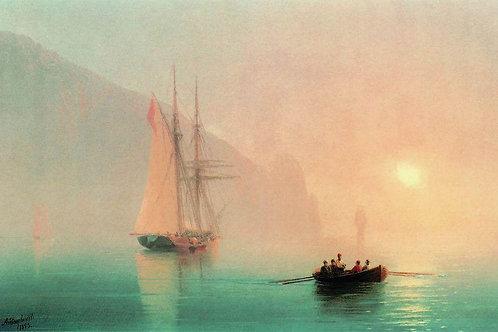 Аю-Даг в туманный день. 1853 30-40