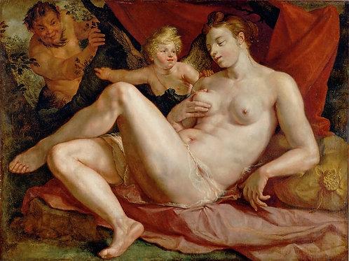 Гольциус, Юпитер и Антиопа 30х40 см.