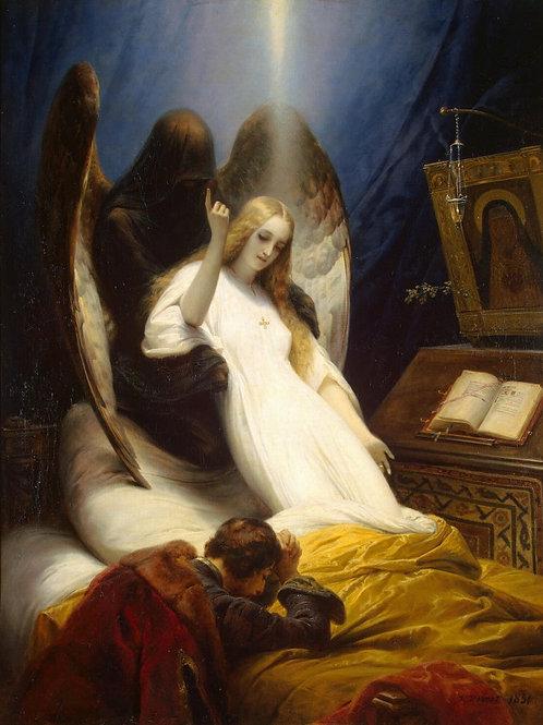 Верне, Ангел смерти, 30х40 см.