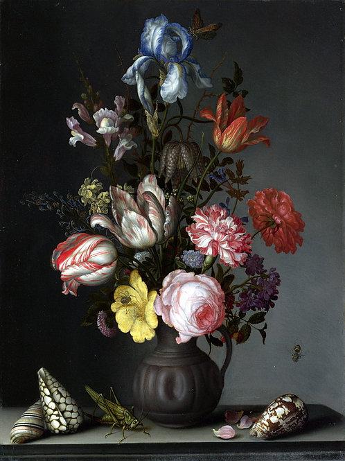 Бальтазар ван дер Аст - Цветы в вазе с , 30х40 см.