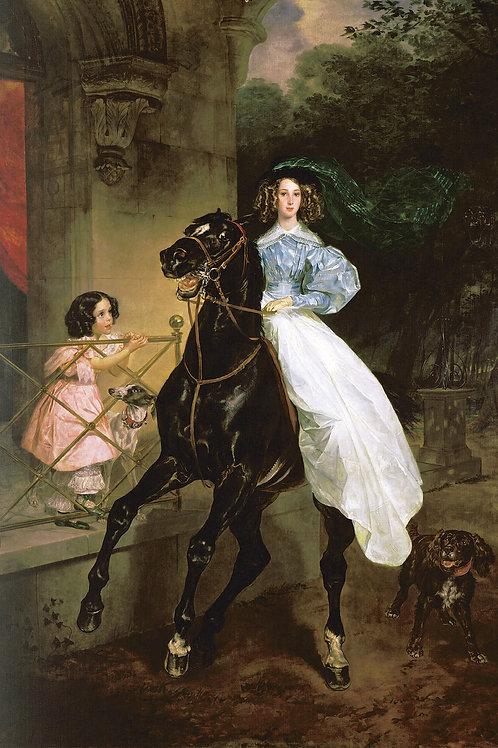 Всадница. 1832., 30х40 см.