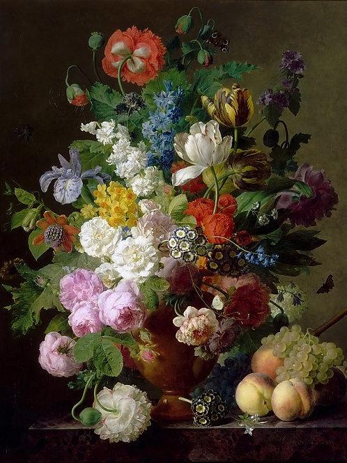 Даль, Ян Франс ван - Ваза с цветами, пер, 30Х40см.