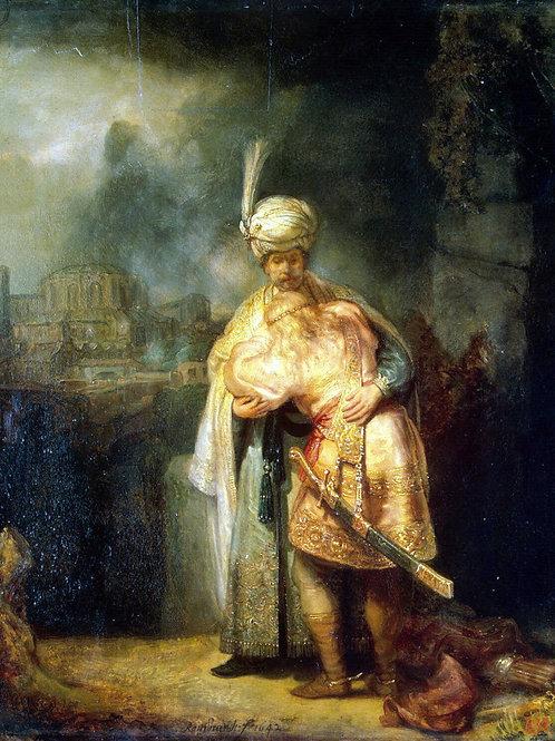 Рембрандт Харменс ван Рейн - Давид и Ио, 30х40 см.