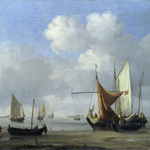 Виллем ван де Вельде - Малые голландски, 30х40 см.