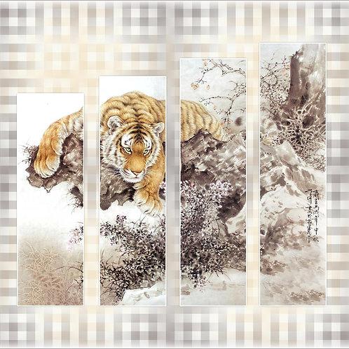 Тигр,100% натур. холст, подрамник.