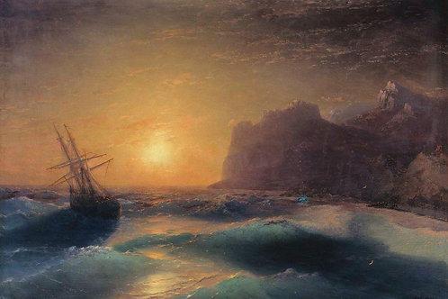 Морской пейзаж. Коктебель. 1889
