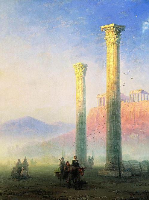 Афинский Акрополь. 1883, 30х40
