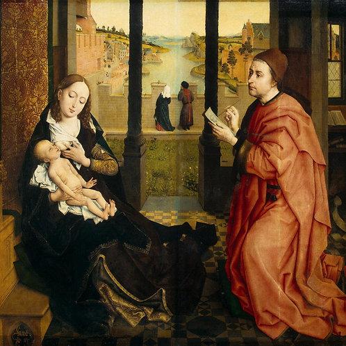 Вейден, Св. Лука, рисующий Мадонну, 30х40 см.