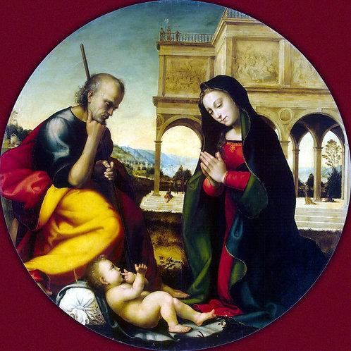 Альбертинелли, Поклонение младенцу Хрис, 30х40 см.