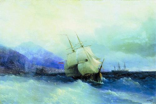 Трапезунд с моря. 1875, 30х40 см.