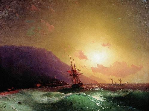 У берегов Ялты. 1864, 30х40 см.